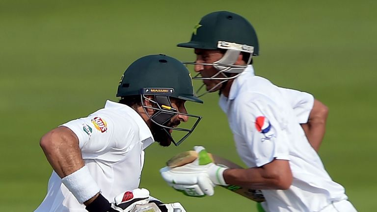 Misbah-ul-Haq and Younus Khan racked up more runs for Pakistan in the first Test