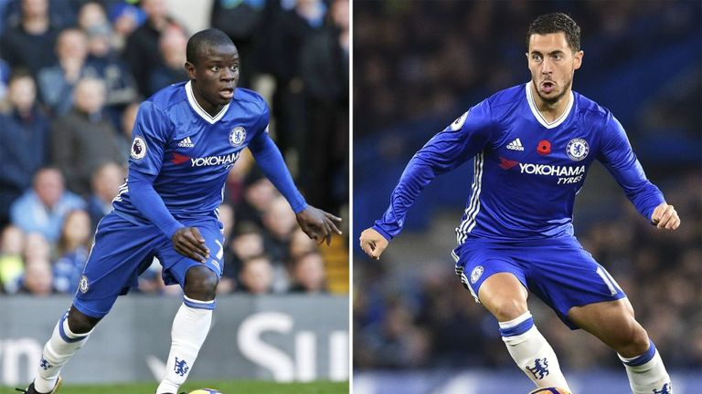 N'Golo Kante and Eden Hazard have both been nominated for the PFA's top award