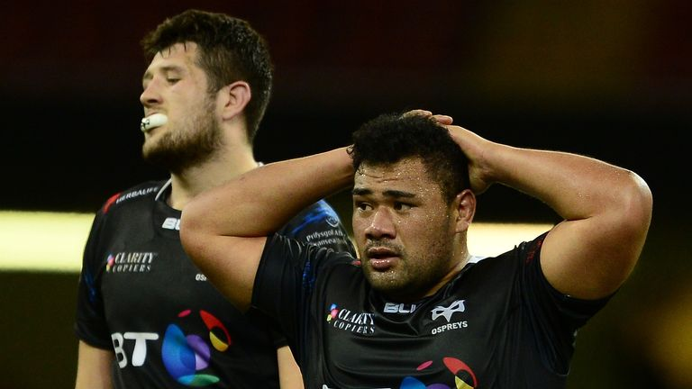 Ospreys were unable to capitalise on the extra man in the second half