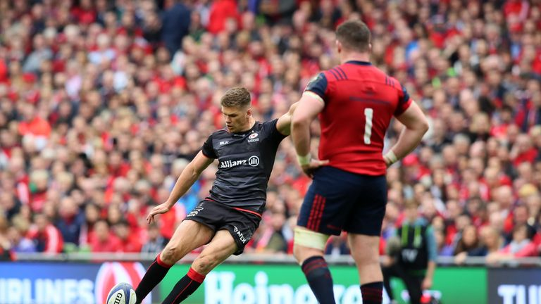 Owen Farrell scored 16 points with the boot in Dublin
