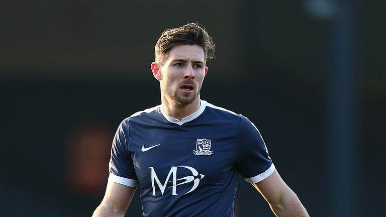 SOUTHEND, ENGLAND - FEBRUARY 18:  Ryan Leonard of Southend United in action during the Sky Bet League One match between Southend United and Northampton Tow