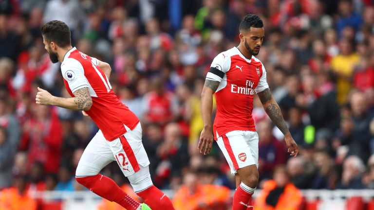 Theo Walcott's body language told the story as he was substituted
