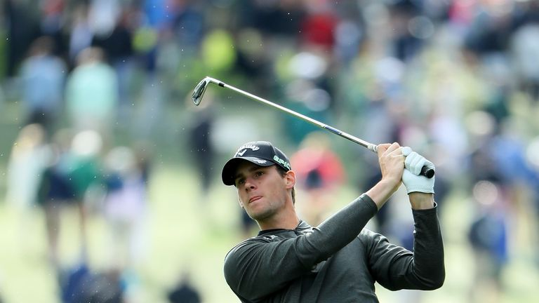 Thomas Pieters hit only five fairways but kept a bogey off his card in a 65