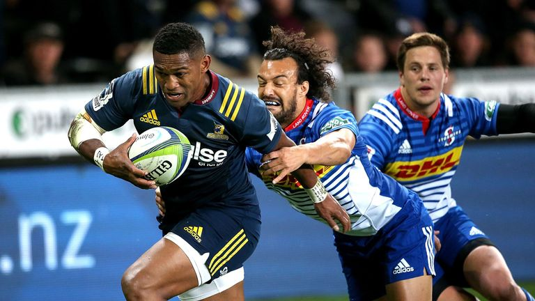 Waisake Naholo starts on the wing for the Highlanders