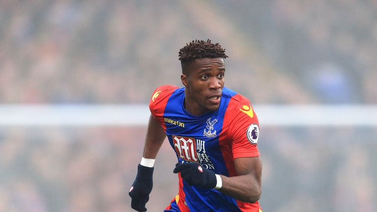 Wilfried Zaha has begun negotiations with Crystal Palace over a new contract