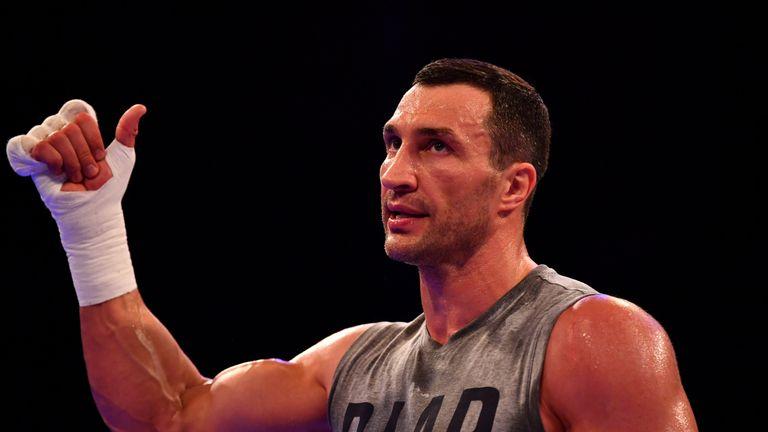 Wladimir Klitschko put in an intense workout at Wembley Arena