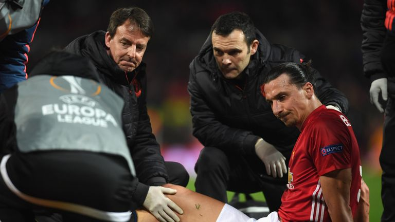 Zlatan Ibrahimovic is set to miss the rest of the season for Manchester United