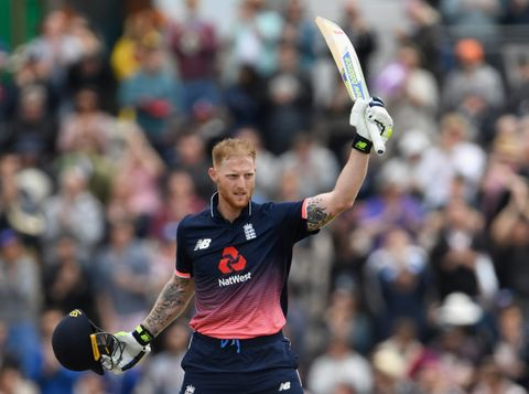 Ben Stokes' century was his first in England in ODI cricket