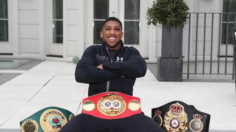 Anthony Joshua has added the WBA heavyweight title to his IBF and Olympic gold
