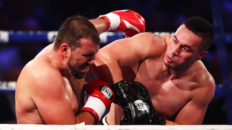 Joseph Parker was made to work for a points win over Razwan Cojanu