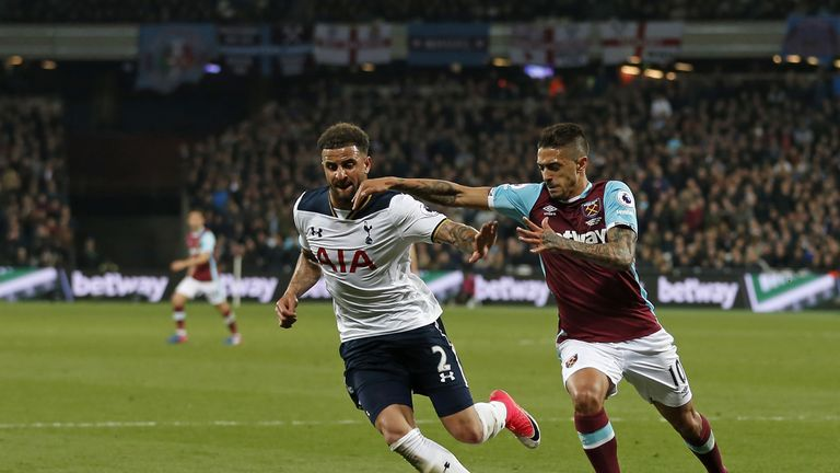 Kyle Walker was not at his best on a night when he was under the spotlight