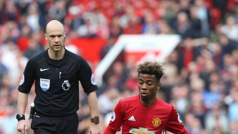 during the Premier League match between XXX and XXX at Old Trafford on May 21, 2017 in Manchester, England.