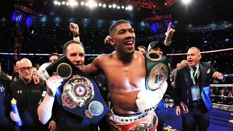 Anthony Joshua's Wembley triumph over Wladimir Klitschko was one of the highlights of 2017