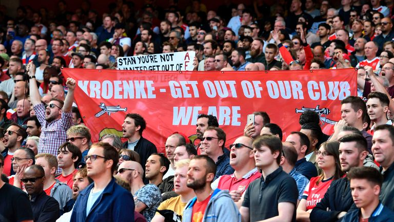 Kroenke has faced growing pressure to explain his vision for the club from Arsenal supporters
