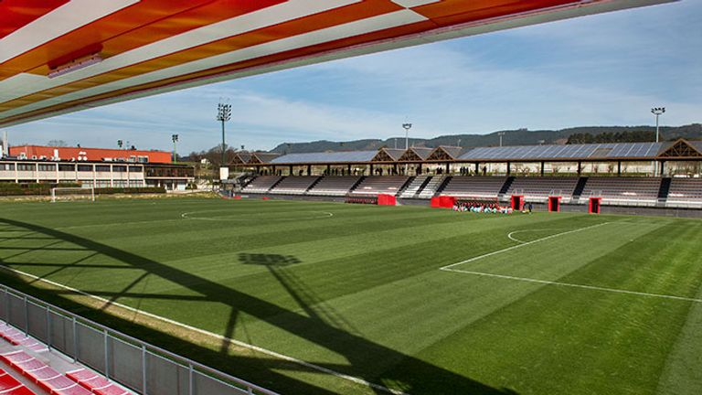One of the training pitches at Athletic's Lezama training grond