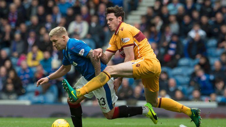 Rangers target Ben Heneghan in action at Ibrox this season