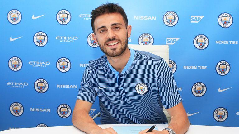 Manchester City's new signing Bernardo Silva
