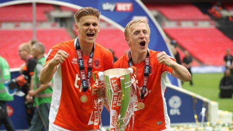 Bowyer guided Blackpool to victory in the play-off final at Wembley in May