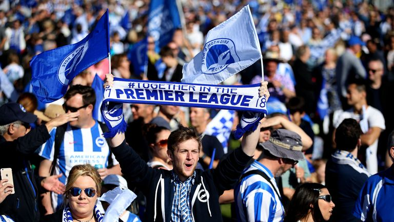 Brighton and Hove Albion are in the Premier League for the first time