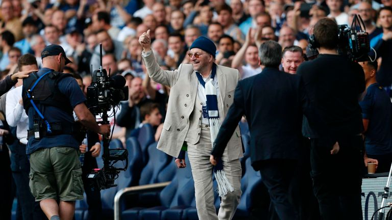 Chas and Dave were guests of the club at half-time, with their Spurs song playing