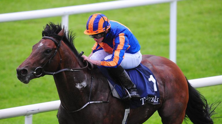 Churchill ridden by Ryan Moore win the Tattersalls Irish 2,000 Guineas at the Curragh Racecourse, Dublin. PRESS ASSOCIATION Photo. Picture date: Saturday M
