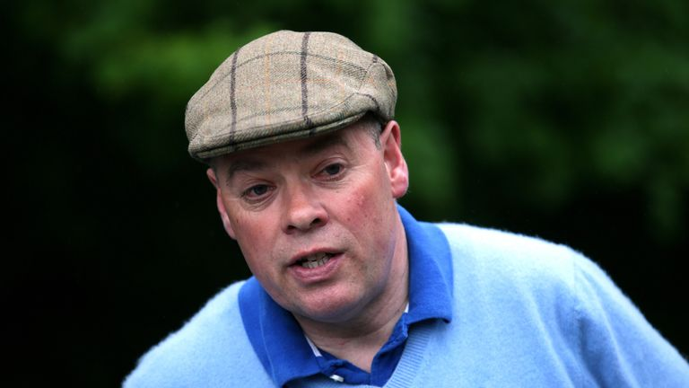 Trainer Clive Cox during the stable visit at Beechdown Farm, Hungerford.