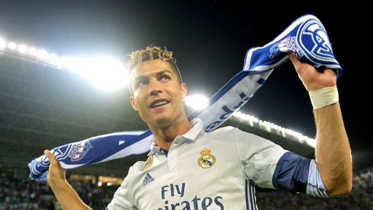 Ronaldo has gone on to score 406 goals in 394 games for Madrid