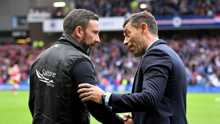 McInnes' Aberdeen side got the better of Rangers - and Caixinha - at Ibrox last May