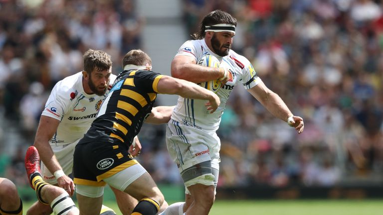 Don Armand carries for Exeter