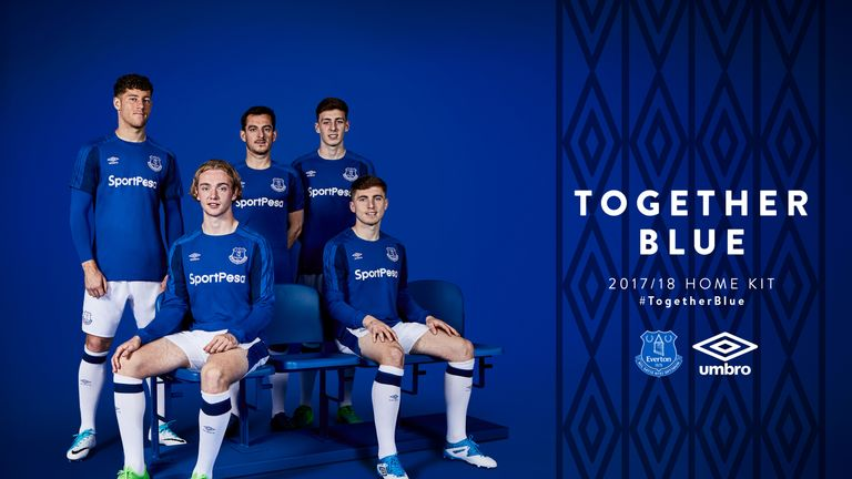 95679fb8c Everton and Umbro have revealed the club s new home kit for the 2017 18  season.