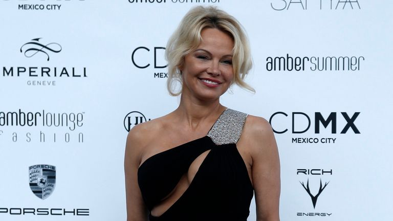 Pamela Anderson was the star guest at Friday night's Amber Lounge Fashion Show