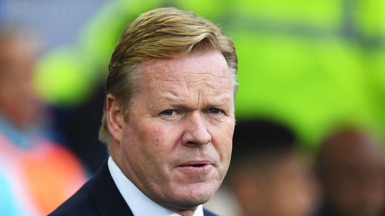 Ronald Koeman prior to the Premier League match between Everton and West Ham United at Goodison Park