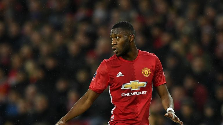 Timothy Fosu-Mensah of Manchester United during The Emirates FA Cup Fourth Round match between Manchester United and Wigan