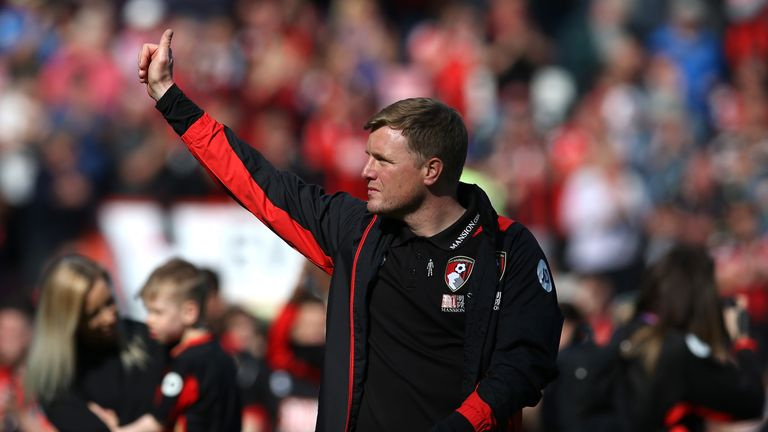 Eddie Howe led Bournemouth in a lap of honour around the Vitality Stadium after their win over Burnley