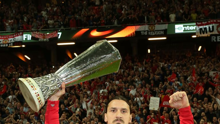 Ibrahimovic helped lead Manchester United to Europa League glory