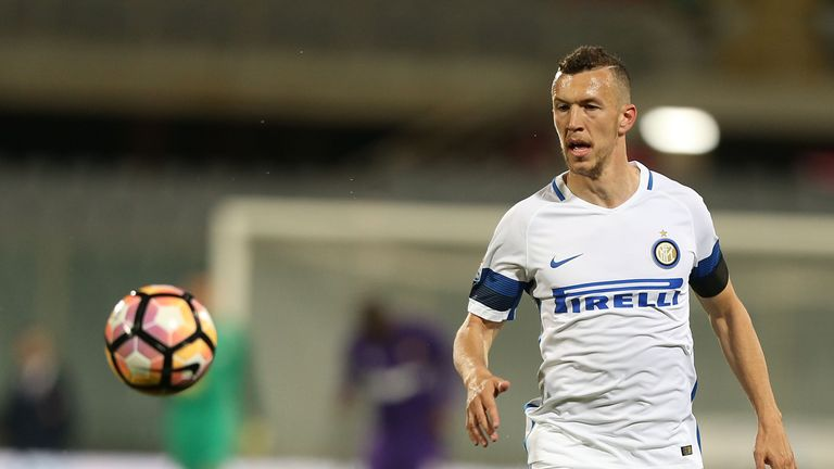 Ivan Perisic of FC Internazionale in action during the Serie A match between ACF Fiorentina v FC Internazionale