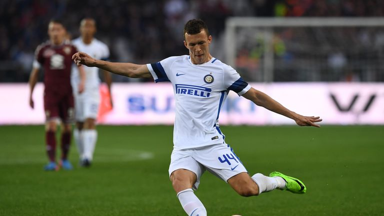 TURIN, ITALY - MARCH 18:  Ivan Perisic of FC Internazionale in action during the Serie A match between FC Torino and FC Internazionale at Stadio Olimpico d