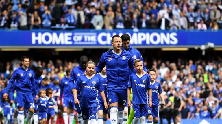 John Terry led Chelsea out for the final time in May