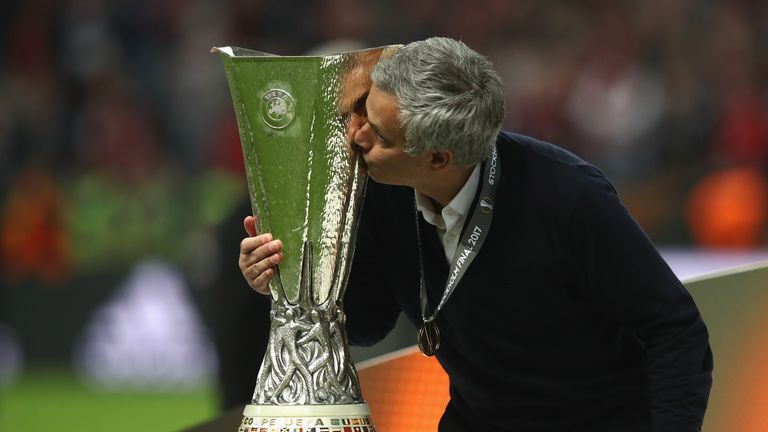 Mourinho won the Europa League in his first season at Old Trafford