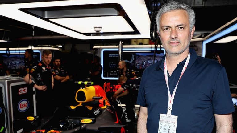 Mourinho was a guest at this weekend's Monaco Grand Prix