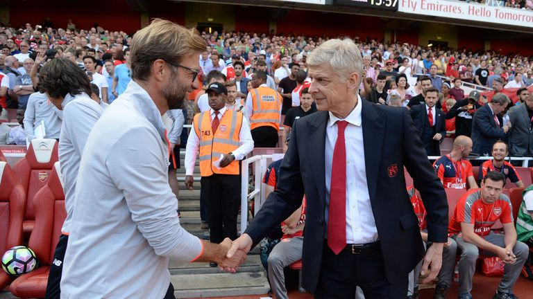 Jurgen Klopp and Arsene Wenger are vying for a Champions League spot