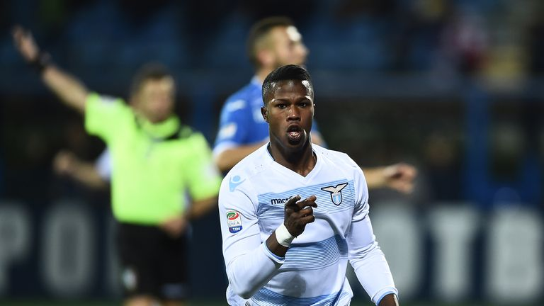Lazio's Keita Balde scored 16 goals last season