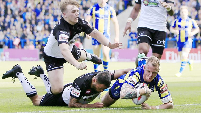 Former Viking Kevin Brown scored a hat-trick against a depleted Widnes on Sunday