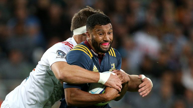 Lima Sopoaga starts at fly-half for the Highlanders after being released from the All Blacks camp