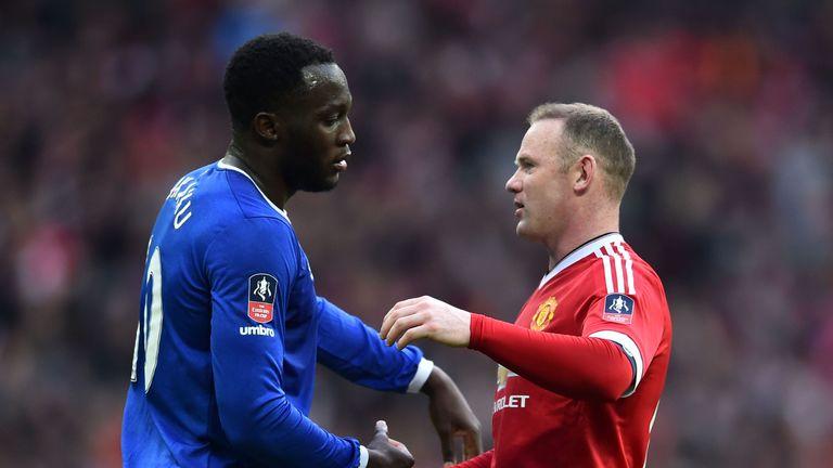 Romelu Lukaku and Wayne Rooney