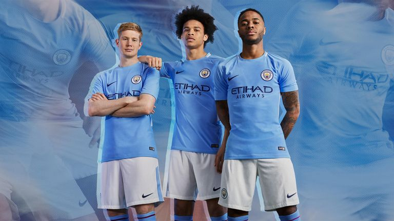 bff77899825 Manchester City have unveiled their new home strip for next season (credit:  Nike)