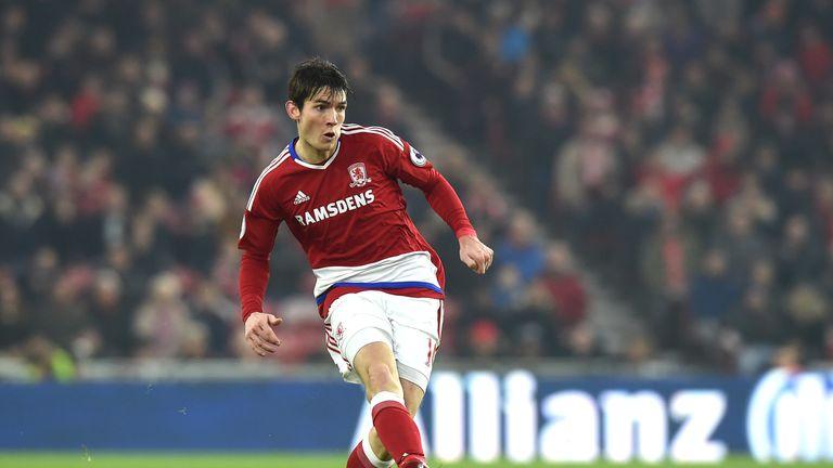 Marten de Roon of Middlesbrough during the Premier League match against West Ham United