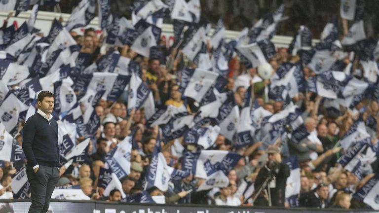 Mauricio Pochettino at Tottenham's last match at White Hart Lane