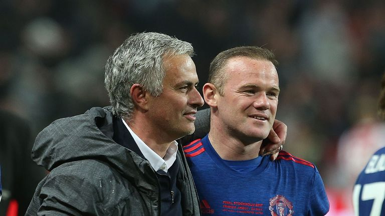 Jose Mourinho (left) says Wayne Rooney was ready to be the 'key man' if needed in the Europa League final