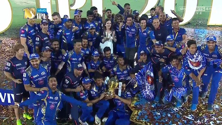Mumbai Indians celebrate their dramatic title triumph in IPL 10 - this year's IPL gets underway on April 7. Watch on Sky Sports Cricket